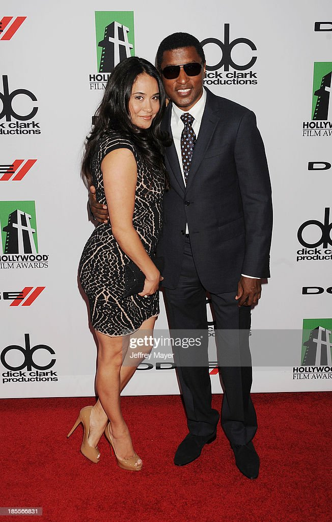 Recording artist/producer Kenneth '<a gi-track='captionPersonalityLinkClicked' href=/galleries/search?phrase=Babyface&family=editorial&specificpeople=227435 ng-click='$event.stopPropagation()'>Babyface</a>' Edmonds (R) and Nicole Pantenburg arrive at the 17th Annual Hollywood Film Awards at The Beverly Hilton Hotel on October 21, 2013 in Beverly Hills, California.