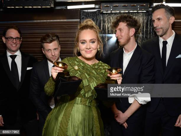 Recording artistproducer Ryan Tedder recording artist Adele producer Ariel Rechtshaid and producer Samuel Dixon corecipients of the Album Of The Year...