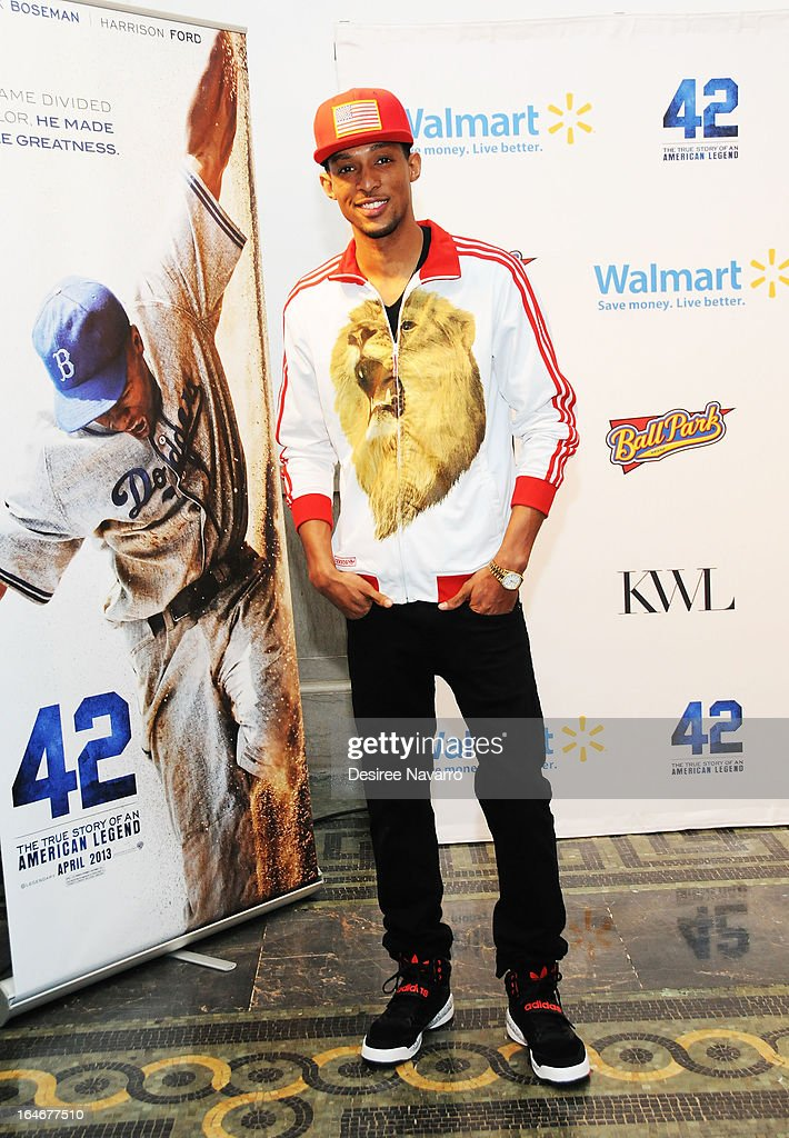 Recording Artist/rapper D.King attends the '42' event honoring Jackie Robinson at the Brooklyn Academy of Music on March 25, 2013 in New York City.