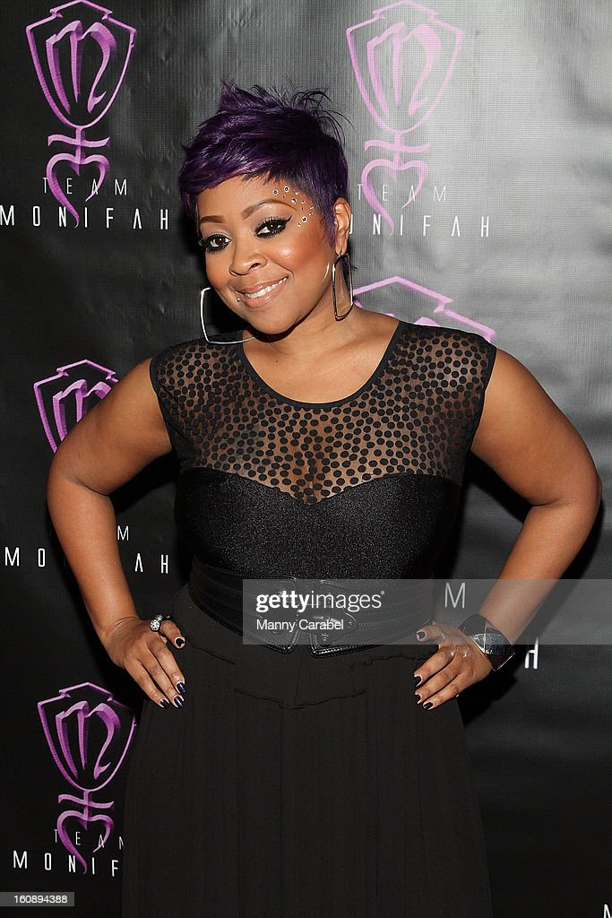 Recording Artist/R&B Diva Monifah Carter attends her own 'In Her Skin' Showcase at Katra Lounge on February 6, 2013 in New York City.