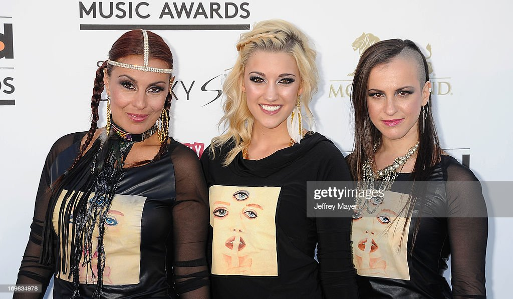 Recording artists 3rd Eye Girl arrive at the 2013 Billboard Music Awards at the MGM Grand Garden Arena on May 19, 2013 in Las Vegas, Nevada.