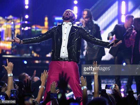 Recording artists A J McLean Kevin Richardson Brian Littrell Howie Dorough and Nick Carter of music group Backstreet Boys perform onstage at the 2016...
