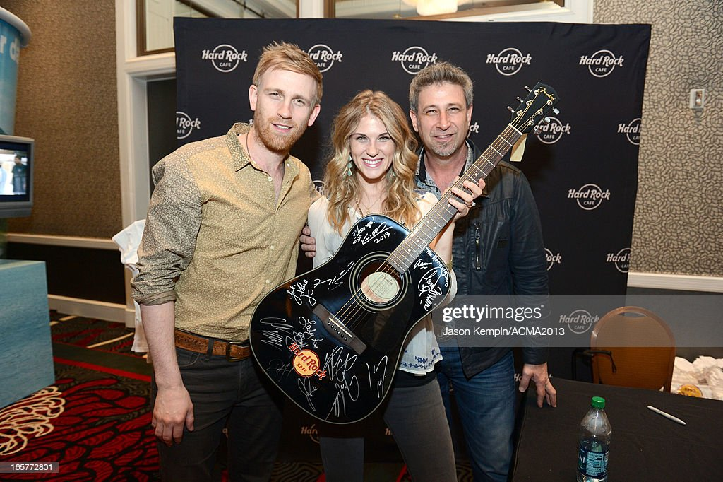 Recording artists Aaron Henningsen, Clara Henningsen and Brian Henningsen of music group The Henningsens attend the Dial Global Radio Remotes during The 48th Annual Academy of Country Music Awards at the MGM Grand on April 5, 2013 in Las Vegas, Nevada.