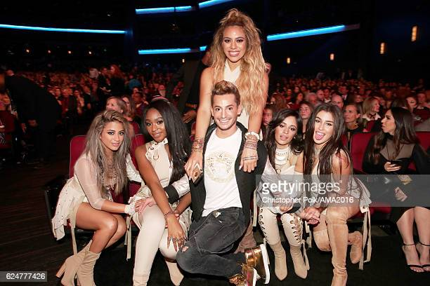 Recording artists Ally Brooke Normani Hamilton Dinah Jane Hansen Franke Grande Camila Cabello and Lauren Jauregui of Fifth Harmony attend the 2016...