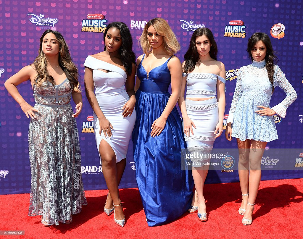 Recording artists Ally Brooke, Normani Hamilton, Dinah-Jane Hansen, Lauren Jauregui, and Camila Cabello of Fifth Harmony attend the 2016 Radio Disney Music Awards at Microsoft Theater on April 30, 2016 in Los Angeles, California.