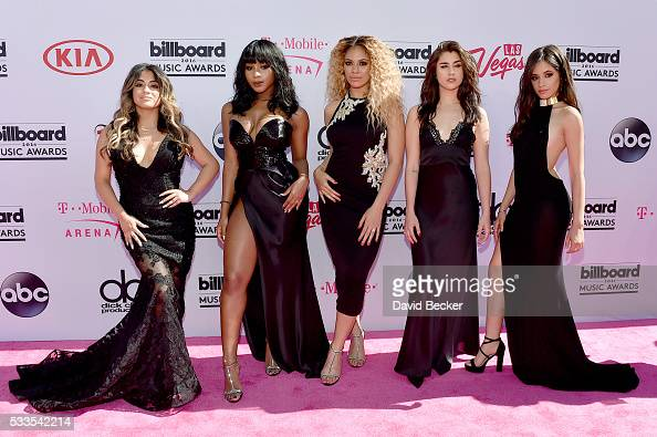 Recording artists Ally Brooke Normani Hamilton DinahJane Hansen Lauren Jauregui and Camila Cabello of Fifth Harmony attend the 2016 Billboard Music...