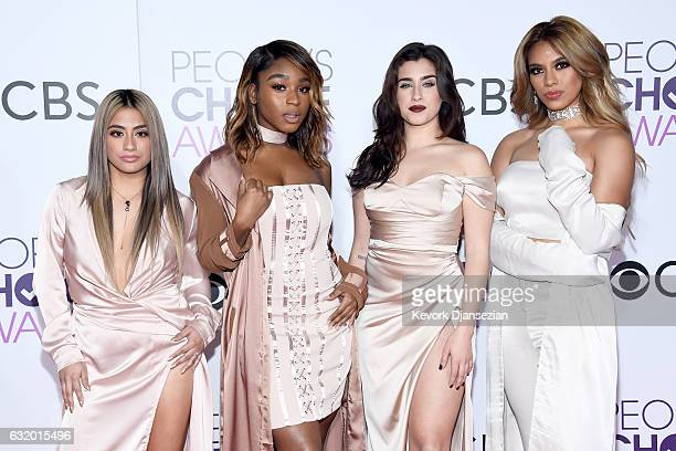 Recording artists Ally Brooke Normani Kordei Lauren Jauregui and Dinah Jane of music group Fifth Harmony attend the People's Choice Awards 2017 at...