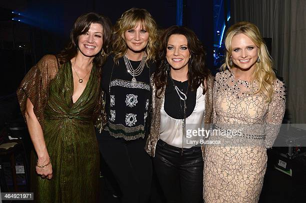 Recording artists Amy Grant Jennifer Nettles Martina McBride and Miranda Lambert attend 2014 MusiCares Person Of The Year Honoring Carole King at Los...