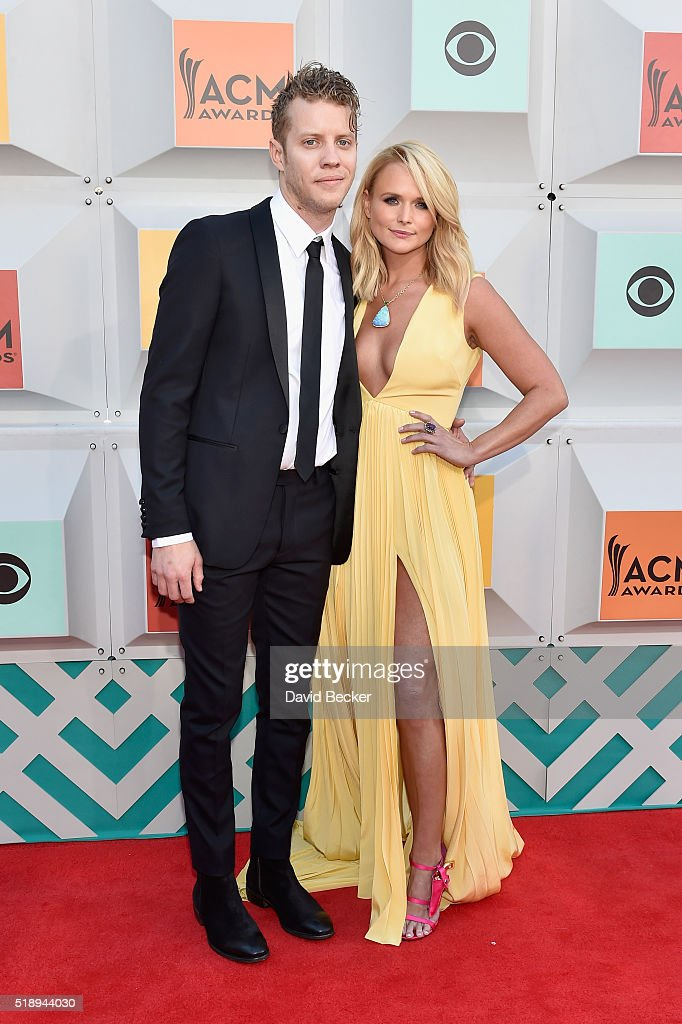 Recording artists Anderson East (L) and Miranda Lambert attend the 51st Academy of Country Music Awards at MGM Grand Garden Arena on April 3, 2016 in Las Vegas, Nevada.