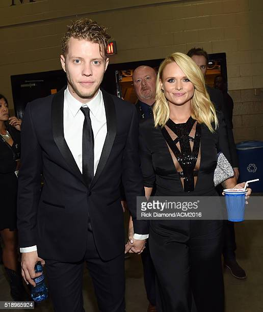 Recording artists Anderson East and Miranda Lambert attend the 51st Academy of Country Music Awards at MGM Grand Garden Arena on April 3 2016 in Las...