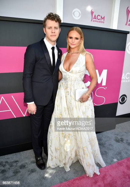 Recording artists Anderson East and Miranda Lambert attend the 52nd Academy Of Country Music Awards at Toshiba Plaza on April 2 2017 in Las Vegas...
