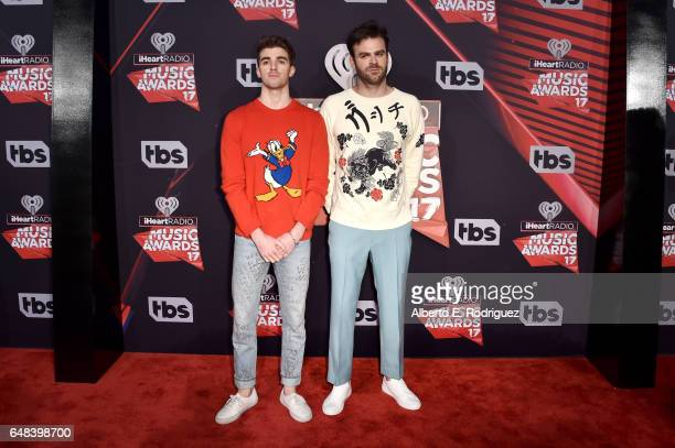 Recording artists Andrew Taggart and Alex Pall of music group The Chainsmokers attend the 2017 iHeartRadio Music Awards which broadcast live on...