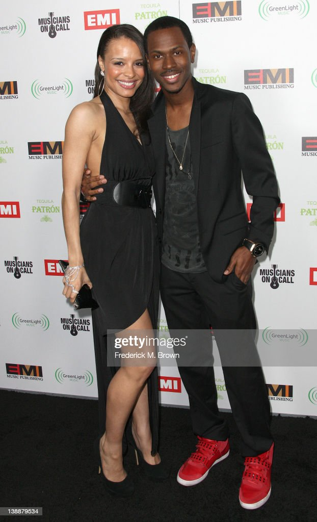 Recording artists Antonique Smith (L) and Jukebox attend the EMI GRAMMY After Party at the Capital Records Building on February 12, 2012 in Hollywood, California.
