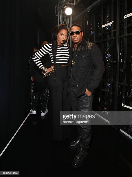 Recording artists Ashanti and Ja Rule attend 106 Park at BET studio on December 15 2014 in New York City