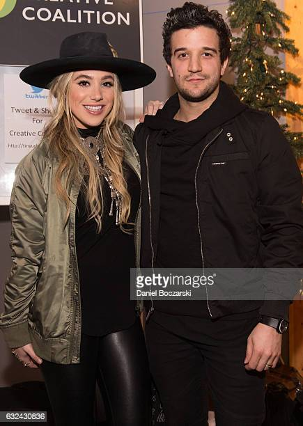 Recording artists BC Jean and Mark Ballas of Alexander Jean attend the Tweet and Shout Party Right To Bear Arts hosted by Actor and The Creative...