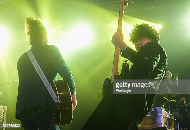 Recording artists Ben Schneider and Miguel Briseno of Lord Huron perform onstage at This Tent during Day 4 of the 2016 Bonnaroo Arts And Music...