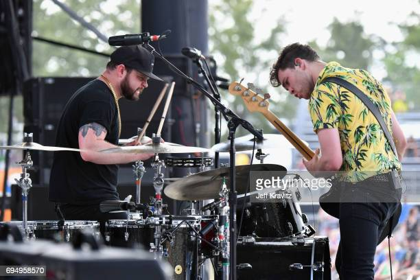 Recording artists Ben Thatcher and Mike Kerr of Royal Blood perform onstage at What Stage during Day 4 of the 2017 Bonnaroo Arts And Music Festival...
