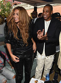 Recording artists Beyonce KnowlesCarter and JayZ attend Roc Nation and Three Six Zero PreGRAMMY Brunch 2015 at Private Residence on February 7 2015...