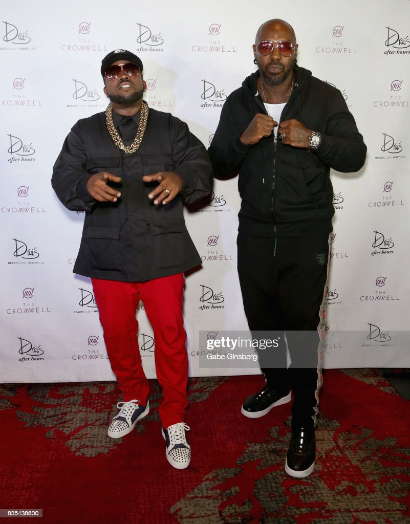 Recording artists Big Boi (L) and Sleepy Brown arrive at Drai's Beach Club - Nightclub at The Cromwell Las Vegas on August 19, 2017 in Las Vegas, Nevada.