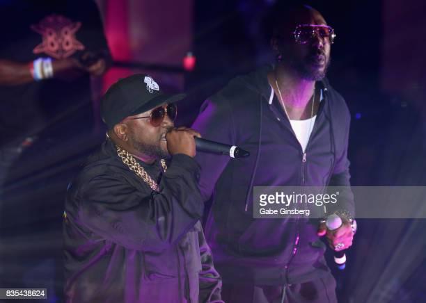 Recording artists Big Boi and Sleepy Brown perform at Drai's Beach Club Nightclub at The Cromwell Las Vegas on August 19 2017 in Las Vegas Nevada