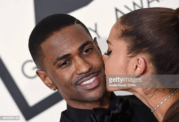 Recording artists Big Sean and Ariana Grande arrive at the 57th Annual GRAMMY Awards at Staples Center on February 8 2015 in Los Angeles California