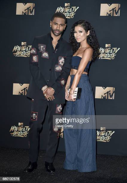Recording artists Big Sean and Jhene Aiko attend the 2017 MTV Movie And TV Awards at The Shrine Auditorium on May 7 2017 in Los Angeles California