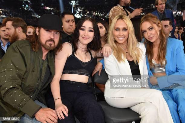 Recording artists Billy Ray Cyrus and Noah Cyrus Tish Cyrus amd Brandi Cyrus attend the 2017 Billboard Music Awards at TMobile Arena on May 21 2017...