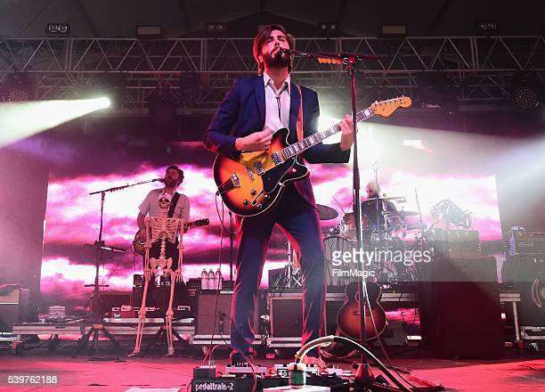 Recording artists Brandon Walters Ben Schneider and Mark Barry of Lord Huron performs onstage at This Tent during Day 4 of the 2016 Bonnaroo Arts And...