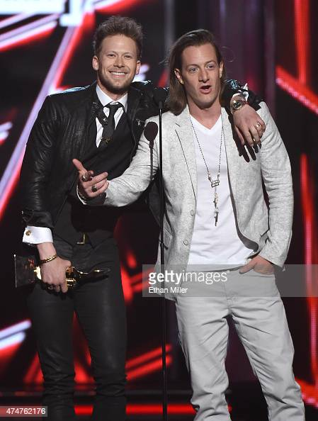 Recording artists Brian Kelley and Tyler Hubbard of Florida Georgia Line accept the Top Country Artist award during the 2015 Billboard Music Awards...