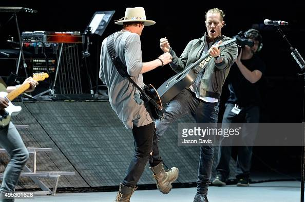 Recording Artists Brian Kelley and Tyler Hubbard of Florida Georgia Line perform during the Dierks Bentley 10th Anniversary Miles and Music for Kids...