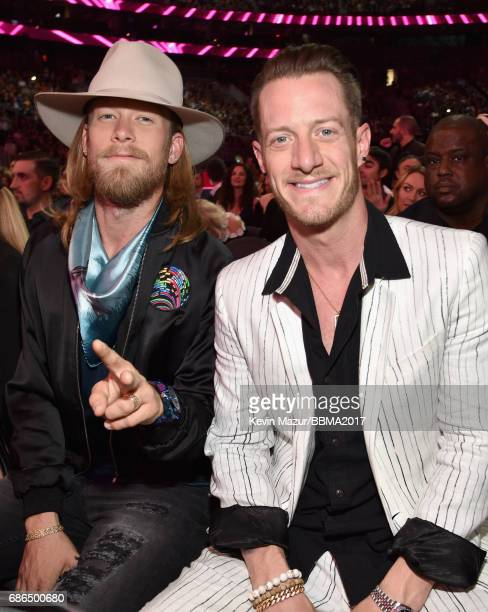 Recording artists Brian Kelley and Tyler Hubbard of music group Florida Georgia Line attend the 2017 Billboard Music Awards at TMobile Arena on May...