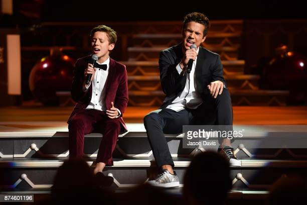Recording Artists Brody and Christian Clementi of CB30 perform on stage during the 2017 CMA Country Christmas at The Grand Ole Opry on November 14...