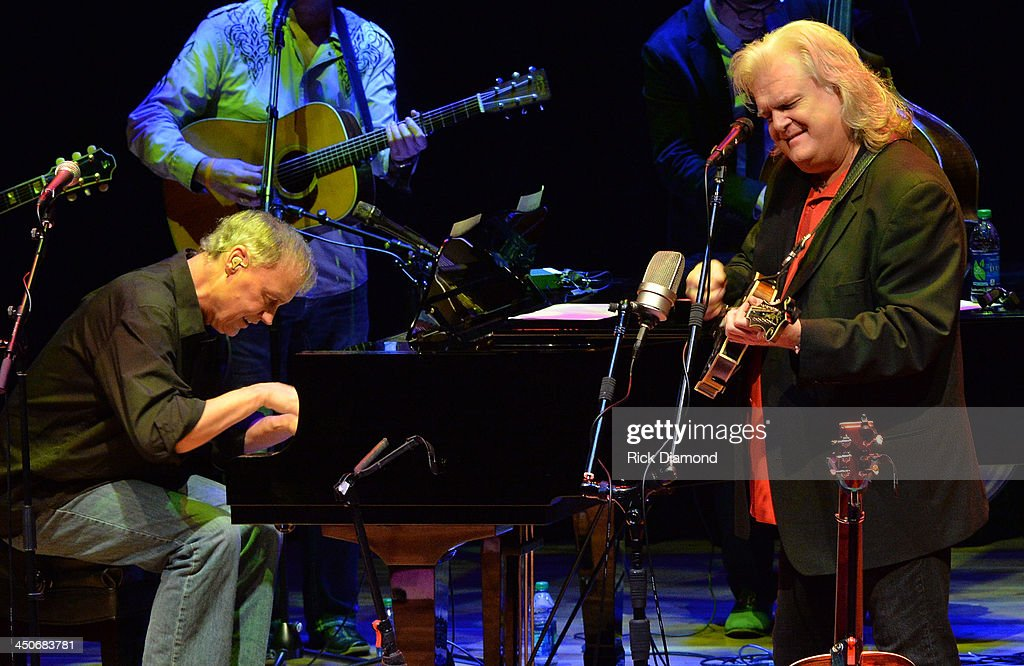 Recording Artists <a gi-track='captionPersonalityLinkClicked' href=/galleries/search?phrase=Bruce+Hornsby&family=editorial&specificpeople=534897 ng-click='$event.stopPropagation()'>Bruce Hornsby</a> and <a gi-track='captionPersonalityLinkClicked' href=/galleries/search?phrase=Ricky+Skaggs&family=editorial&specificpeople=2134089 ng-click='$event.stopPropagation()'>Ricky Skaggs</a> along with Ricky's band Kentucky Thunder perform during <a gi-track='captionPersonalityLinkClicked' href=/galleries/search?phrase=Ricky+Skaggs&family=editorial&specificpeople=2134089 ng-click='$event.stopPropagation()'>Ricky Skaggs</a> Day 2 - Bluegrass Rules at the CMA Theater on November 19, 2013 in Nashville, Tennessee. Skaggs was recently announced as the Country Music Hall of Fame and Museum's 2013 Artist-in-Residence.