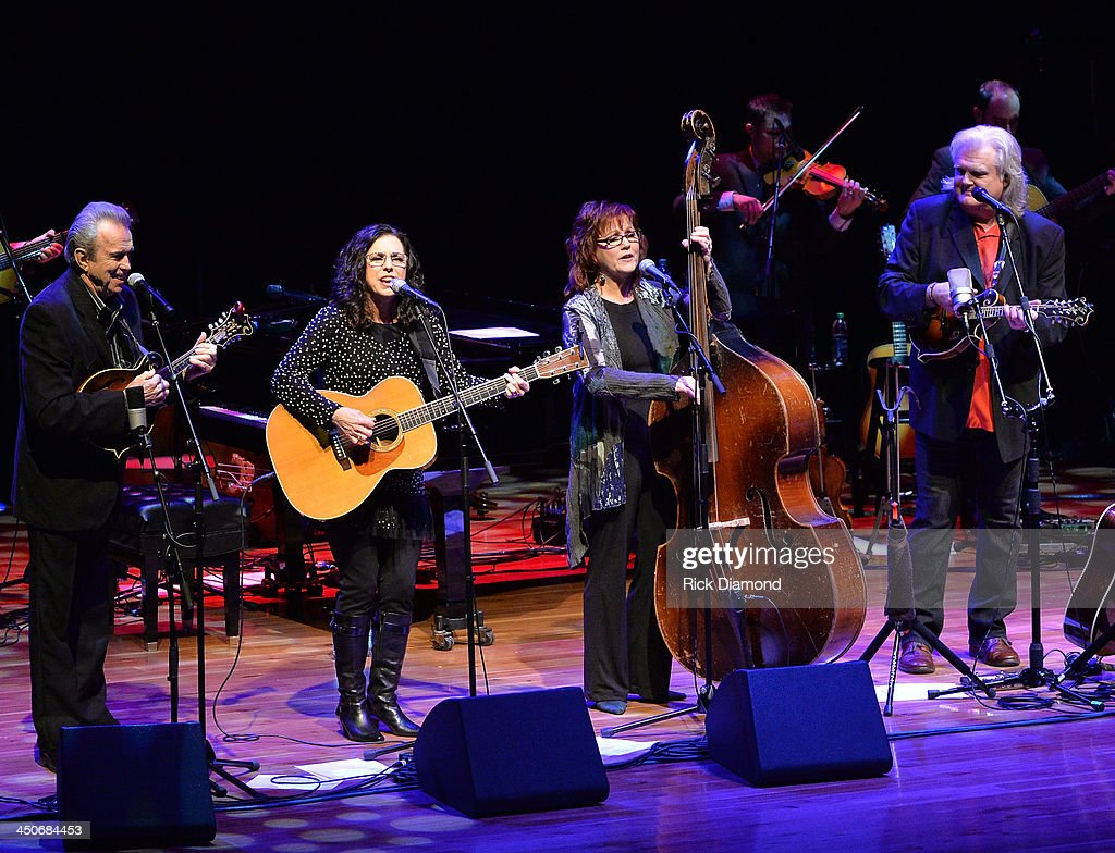 Recording Artists Buck White, Sharon White, Cheryl White of The Whites join Ricky Skaggs along with Ricky's band Kentucky Thunder and performs during Ricky Skaggs Day 2 - Bluegrass Rules at the CMA Theater on November 19, 2013 in Nashville, Tennessee. Skaggs was recently announced as the Country Music Hall of Fame and Museum's 2013 Artist-in-Residence.
