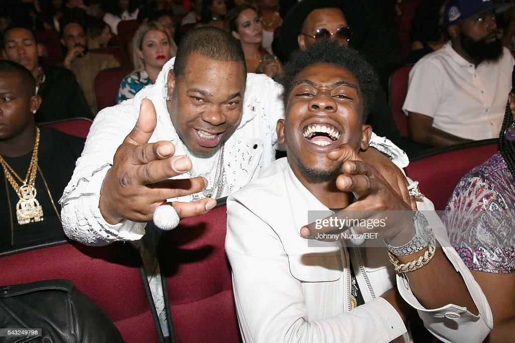 Recording artists <a gi-track='captionPersonalityLinkClicked' href=/galleries/search?phrase=Busta+Rhymes&family=editorial&specificpeople=208120 ng-click='$event.stopPropagation()'>Busta Rhymes</a> (L) and <a gi-track='captionPersonalityLinkClicked' href=/galleries/search?phrase=Desiigner+-+Rapper&family=editorial&specificpeople=15733824 ng-click='$event.stopPropagation()'>Desiigner</a> attend the 2016 BET Awards at the Microsoft Theater on June 26, 2016 in Los Angeles, California.