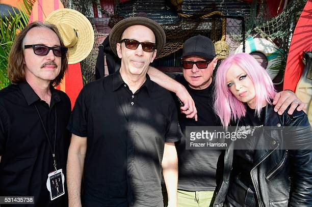 Recording artists Butch Vig Duke Erikson Steve Marker and Shirley Manson of music group Garbage attend KROQ Weenie Roast 2016 at Irvine Meadows...