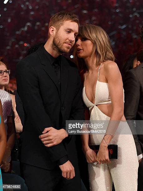 Recording artists Calvin Harris and Taylor Swift attend the 2015 Billboard Music Awards at MGM Grand Garden Arena on May 17 2015 in Las Vegas Nevada
