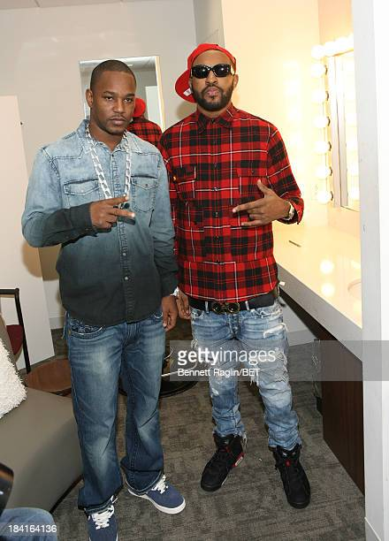 Recording artists Cam'ron and Mike Will visit 106 Park at 106 Park studio on October 10 2013 in New York City