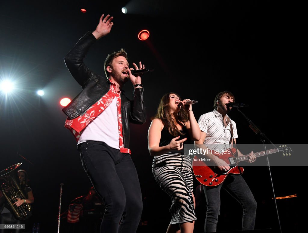 Recording artists Charles Kelley, Hillary Scott and Dave Haywood of Lady Antebellum perform during the ACM Party For A Cause: The Joint at The Joint inside the Hard Rock Hotel & Casino on April 1, 2017 in Las Vegas, Nevada.