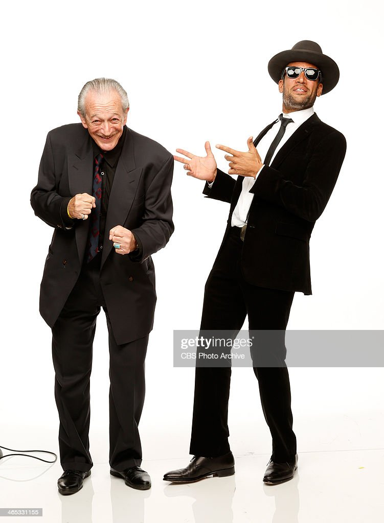 Recording artists Charlie Musselwhite and Ben Harper pose for a portrait in the CBS/GRAMMY Awards photo gallery during the 56th GRAMMY Awards at...