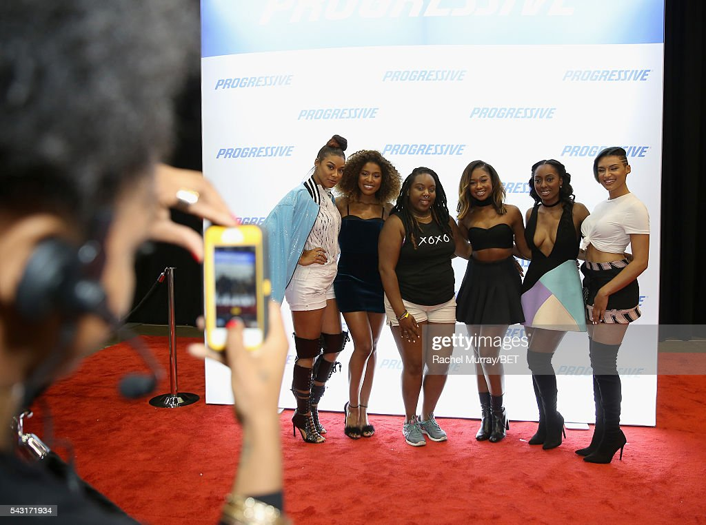 Recording artists Chasing Destiny attend the #It'sYourMove hair showcase powered by Motions during the 2016 BET Experience on June 26, 2016 in Los Angeles, California.