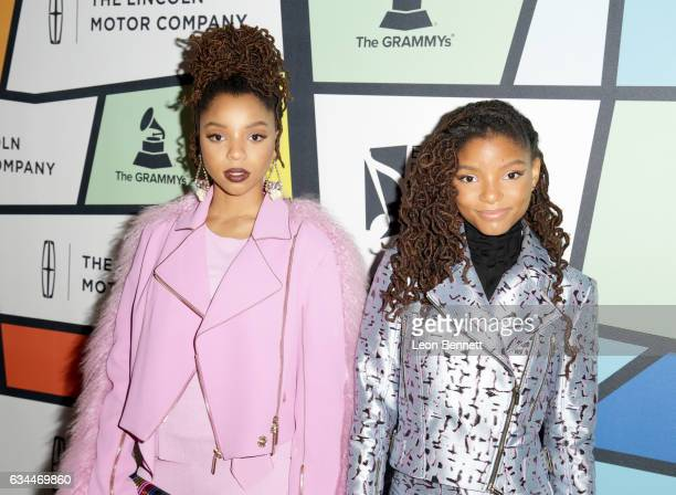Recording artists Chloe Bailey and Halle Bailey of Chloe x Halle attend 2017 Essence Black Women in Music at NeueHouse Hollywood on February 9 2017...