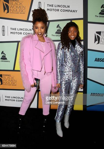Recording artists Chloe Bailey and Halle Bailey of Chloe x Halle attends the 8th Annual Essence Black Women in Music Event at NeueHouse Hollywood on...
