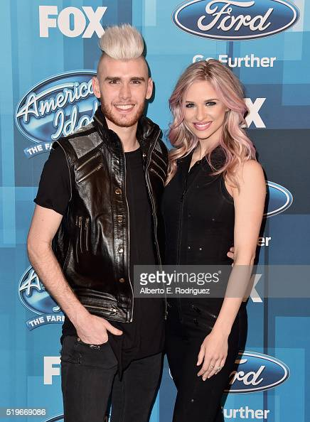 Recording artists Colton Dixon and Annie Coggeshall attend FOX's 'American Idol' Finale For The Farewell Season at Dolby Theatre on April 7 2016 in...
