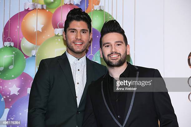 Recording Artists Dan Shay attend the CMA 2015 Country Christmas Press room CMA 2015 Country Christmas on November 7 2015 in Nashville Tennessee