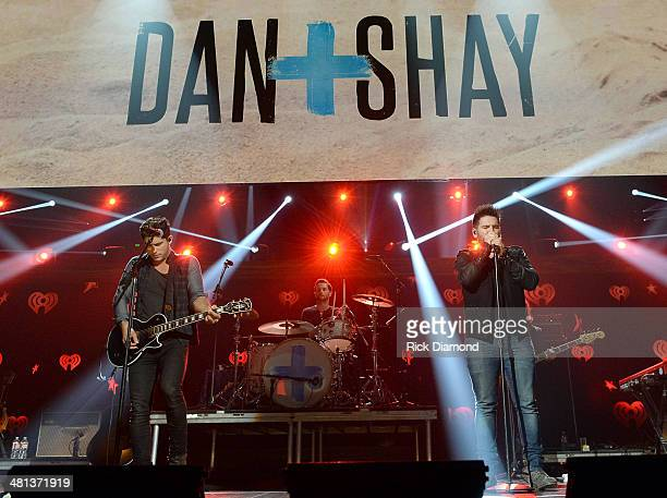 Recording artists Dan Shay's Dan Smyers and Shay Mooney perform onstage during iHeartRadio Country Festival in Austin at the Frank Erwin Center on...
