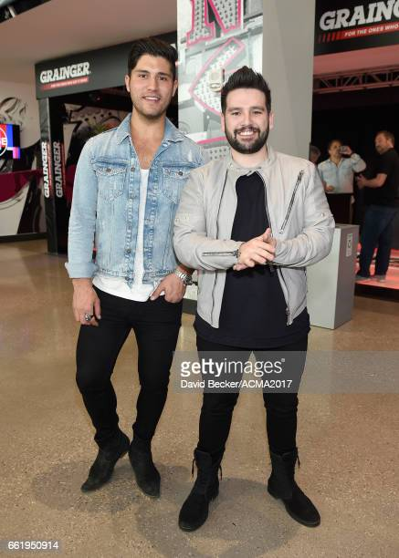 Recording artists Dan Smyers and Shay Mooney of Dan Shay attend the 52nd Academy Of Country Music Awards Cumulus/Westwood One Radio Remotes at...