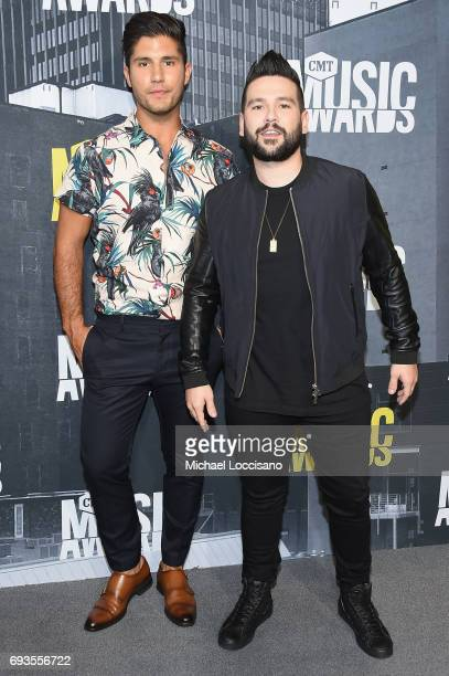 Recording artists Dan Smyers and Shay Mooney of Dan Shay attend the 2017 CMT Music Awards at the Music City Center on June 7 2017 in Nashville...