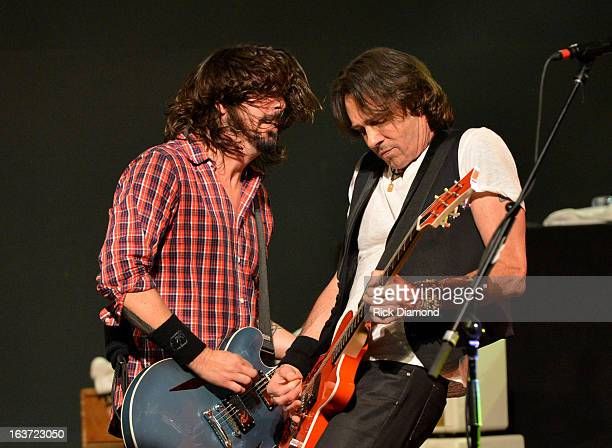 Recording artists Dave Grohl and Rick Springfield perform at Citi Presents Sound City Players Live At SXSW at Stubbs on March 14 2013 in Austin Texas