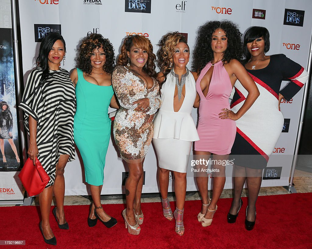 Recording Artists Dawn Robinson, Michel'le, Lil' Mo, Chante Moore, Claudette Ortiz, and Kelly Price attends TV One's new series 'R&B Divas LA' launch party at The London Hotel on July 9, 2013 in West Hollywood, California.